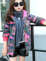Girls' Camouflage Down & Cotton Padded