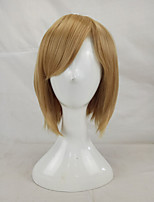 Women Synthetic Wig Capless Short Straight Blonde Bob Haircut Party Wig Natural Wigs Costume Wig