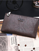Men Bags All Seasons Cowhide Wallet Zipper for Event/Party Formal Black Coffee Brown