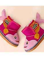 Fille Chaussures Cuir Automne Hiver Confort Bottes de neige Bottes Pour Décontracté Fuchsia Jaune Clair Marron