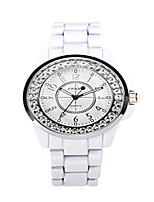 Women's Quartz Water Resistant / Water Proof Alloy Band Black White Gold