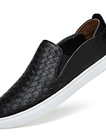 Men's Shoes Nappa Leather Fall Winter Moccasin Loafers & Slip-Ons For Casual Party & Evening Blue Coffee Black