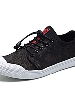 Men's Shoes PU Fabric Spring Fall Comfort Sneakers For Casual Black