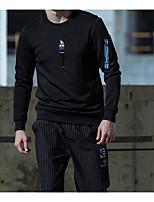 Sweatshirt Homme Sports Vacances Imprimé Col Arrondi Micro-élastique Lin Manches longues Printemps Automne