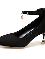 Women's Shoes PU Winter Comfort Heels Stiletto Heel Pointed Toe For Casual Office & Career Blushing Pink Beige Black