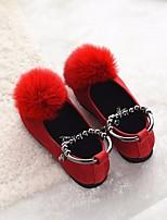 Fille Chaussures PU de microfibre synthétique Automne Hiver Confort Mocassins et Chaussons+D6148 Pour Décontracté Noir Jaune Rouge