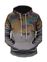 Men's Going out Daily Hoodie 3D Print Hooded Micro-elastic Polyester Long Sleeve Fall