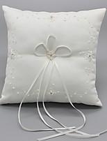 Ribbon Flower(s) Bow Satin Silk Ring Pillows Wedding Ceremony