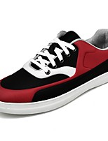 Men's Shoes Fleece Spring Fall Comfort Sneakers Lace-up For Outdoor Black/Red Black/White Black