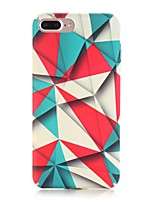 economico -Custodia Per Apple iPhone X iPhone 8 Effetto ghiaccio Fantasia/disegno Per retro Geometrica Resistente PC per iPhone X iPhone 8 Plus
