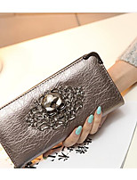 Women Bags PU Wallet Buttons Zipper for Event/Party Formal All Seasons Gold Black Red