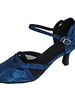 Women's Modern Synthetic Sandal Indoor Customized Heel Blue
