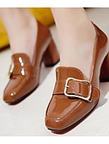 Feminino Sapatos Pele Napa Primavera Outono Plataforma Básica Saltos Salto Agulha Para Casual Preto Marron Verde