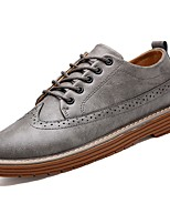 Men's Shoes Rubber Spring Fall Comfort Oxfords Lace-up For Outdoor Khaki Gray Black