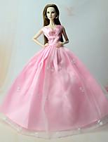 Robes Robes Pour Poupée Barbie Rose Robes Pour Fille de Jouets DIY