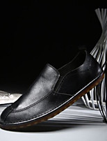 Men's Shoes Pigskin Spring Fall Comfort Loafers & Slip-Ons For Casual Khaki Brown Black