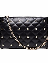 Women Bags All Seasons PU Clutch Zipper for Casual Black