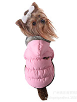 Dog Coat Dog Clothes Casual/Daily Keep Warm Solid Fuchsia Brown Red Blue Pink Costume For Pets