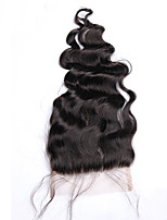 cheap -5x5 Lace Closure With Baby Hair Loose Wave Brazilian Remy Hair 100% Human Hair Bleached Knots Closure