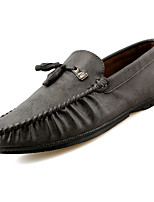 Men's Shoes Synthetic Microfiber PU PU Leatherette Spring Fall Moccasin Comfort Loafers & Slip-Ons For Casual Blue Brown Gray Black