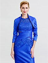 cheap -3/4 Length Sleeves Taffeta Wedding Party / Evening Women's Wrap Shrugs