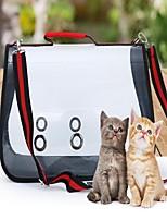 Cat Dog Sling Bag Pet Carrier Portable Breathable Solid Color Block Red