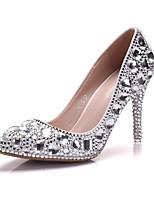 Femme Chaussures Polyuréthane Printemps Automne Confort Nouveauté Chaussures de mariage Bout pointu Strass Cristal Applique Pour Mariage