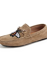Men's Shoes Flocking Spring Fall Light Soles Loafers & Slip-Ons For Casual Khaki Gray Black