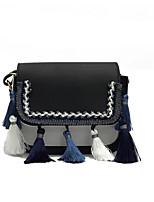 Women Bags PU Crossbody Bag Zipper for Casual All Seasons White Black Gray