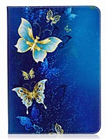 Butterfly Pattern Card Holder Wallet with Stand Flip Magnetic PU Leather Case for Samsung Galaxy Tab S3 WIFI/LTE T820 T825 9.7 inch Tablet PC