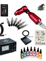cheap -Tattoo Machine Starter Kit - 1 pcs Tattoo Machines with 7 x 15 ml tattoo inks, Professional 20 W 1 rotary machine liner & shader