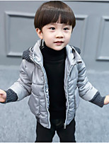 Boys' Solid Down & Cotton Padded Winter Long Sleeve