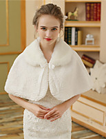 Women's Wrap Capelets Faux Fur Wedding Party/ Evening Pattern / Print Fur Lace-up