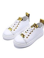 Girls' Shoes Leatherette Fall Winter Comfort Sneakers For Casual Red Yellow Black