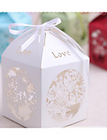 Cuboid Card Paper Satin Favor Holder With Favor Boxes