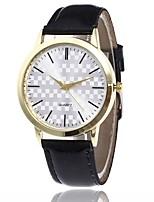 Women's Fashion Watch Casual Watch Quartz PU Band Black White Pink