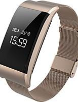 hhy a66 movimento metallico smart wristband frequenza cardiaca pressione sanguigna pressione sanguigna affaticamento monitoraggio