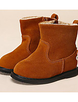 Girls' Shoes Cowhide Fall Winter Comfort First Walkers Boots For Casual Camel Gray Black