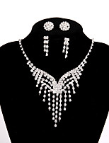 Women's Chain Necklaces Rhinestone Alloy Basic Jewelry For Wedding Party Engagement