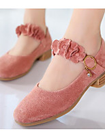 Girls' Shoes Nubuck leather PU Spring Fall Comfort Light Soles Flats For Casual Blushing Pink Black