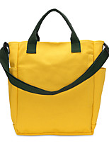 Women Bags All Seasons Canvas Tote Zipper for Shopping Casual Yellow Army Green