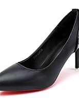 Damen Schuhe PU Herbst Winter Leuchtende Sohlen High Heels Flacher Absatz Runde Zehe Schnürsenkel Für Normal Schwarz Khaki