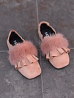 Girls' Shoes PU Winter Comfort Loafers & Slip-Ons For Casual Blushing Pink Black