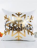 1 pçs Veludo Cobertura de Almofada,Palavra / Frase Floco de Neve Estilo Natal