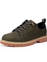 Men's Shoes Fall Light Soles Oxfords for Casual Black Brown Green
