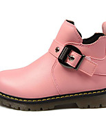 Girls' Shoes Synthetic Microfiber PU Fall Winter Combat Boots Boots For Casual Blushing Pink Black White