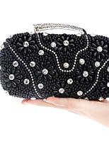 Damen Taschen Ganzjährig Polyester Abendtasche Knöpfe Perlen Verzierung für Veranstaltung / Fest Gold Schwarz Silber