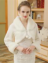 Women's Wrap Shrugs Faux Fur Wedding Party/ Evening Fur Lace-up