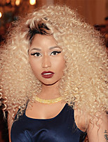 Remy Brazilian Hair Weft with Closure Curly Hair Extensions Four-piece Suit Black/Bleach Blonde