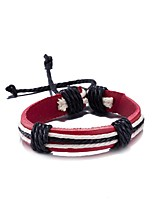 Men's Women's Leather Bracelet Friendship Punk PU Alloy Line Jewelry For Daily Casual Stage Office & Career Street